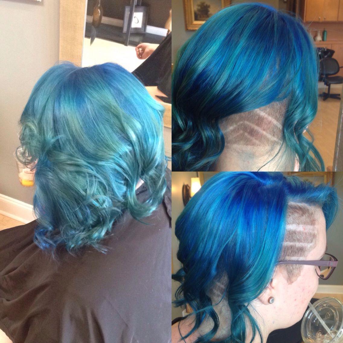 #hairbyChristyLynn Mermaid Hair Pravanna Vivids. Teal hair. Blue hair.
