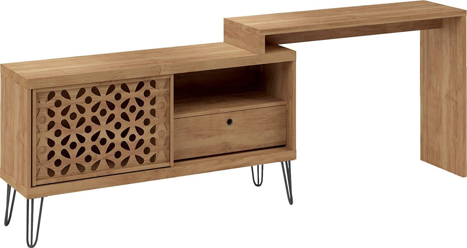 Corner farmhouse desk tv stand for 50 inch tv with