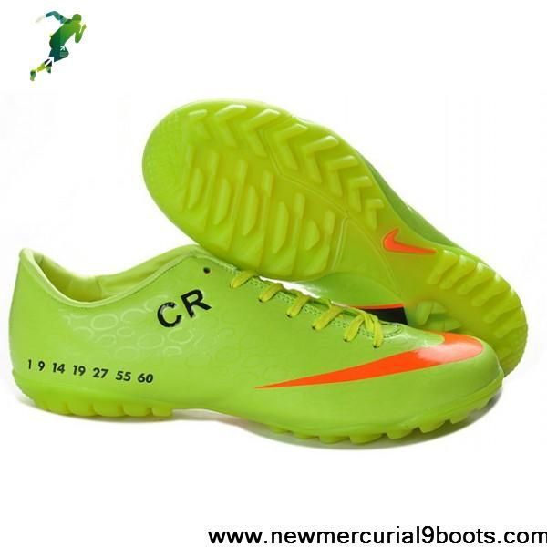 ec97cb92e Latest Listing Green Orange Black Limited Edition Nike Mercurial Victory V  CR7 TF Futsal Football Shoes For SaleFootball Boots For Sale