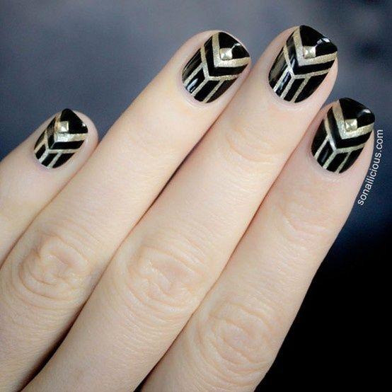 Nails art deco szukaj w google uroda pinterest art deco nails art deco szukaj w google prinsesfo Choice Image