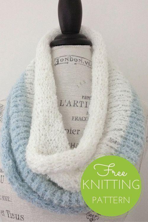 Duo Cowl Free Knitting Pattern | Cuellos para adultos | Pinterest ...