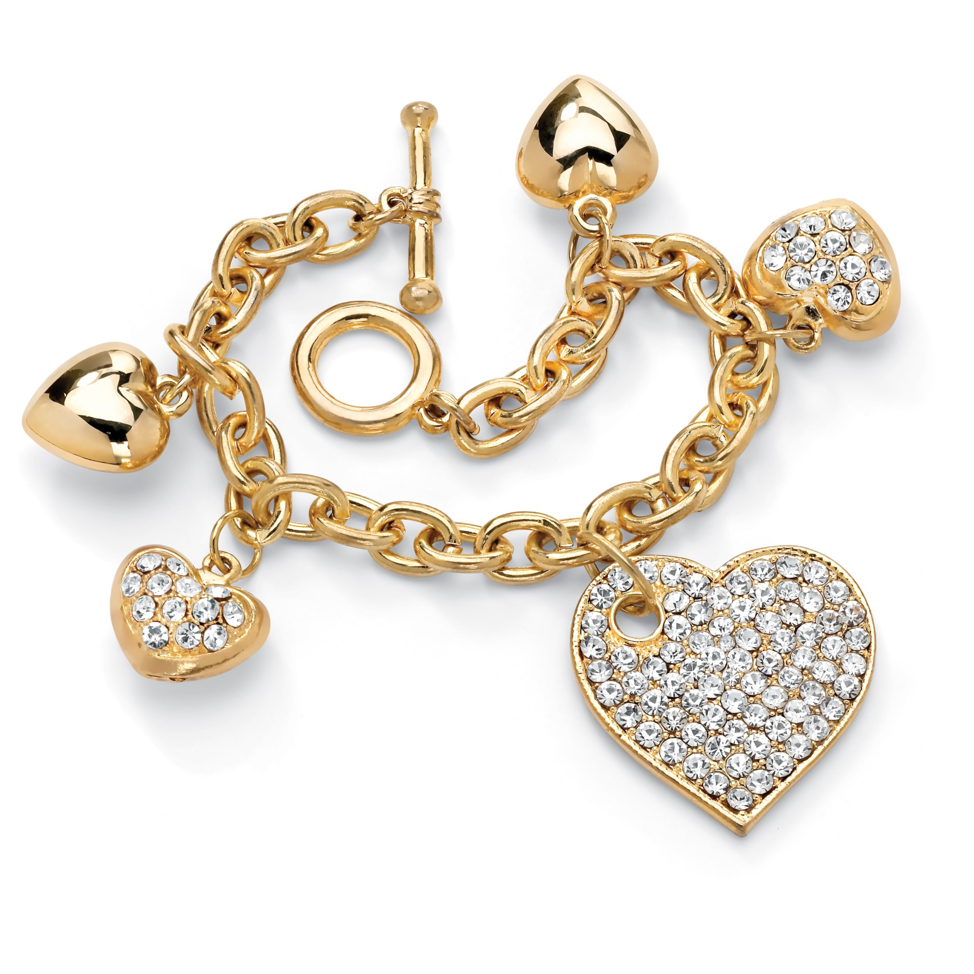 m whisper products heart chain gold rose diamond monroe white bracelet