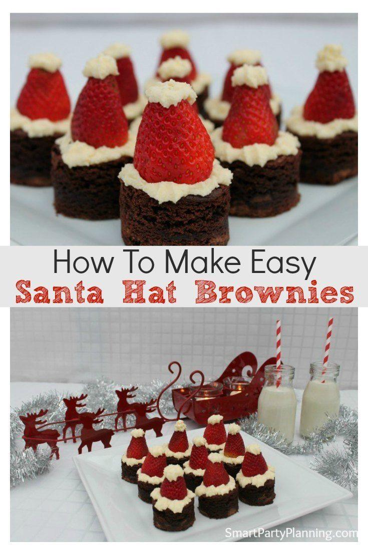How To Easily Make Amazing Santa Hat Brownies How To Easily Make Amazing Santa Hat Brownies