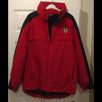 #Ferraridesign - Ferrari Mens Red Hooded Coat/Winter Jacket XL (F1 Formula One) https://t.co/kGVNWguoZr https://t.co/3SPYvP7FcB