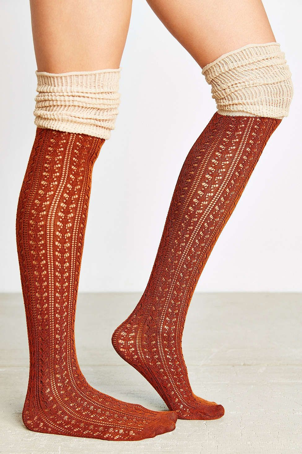 02a2058ec0d Tonal Scrunchy Over-The-Knee Sock. Nwt One Size Urban Outfitters ...