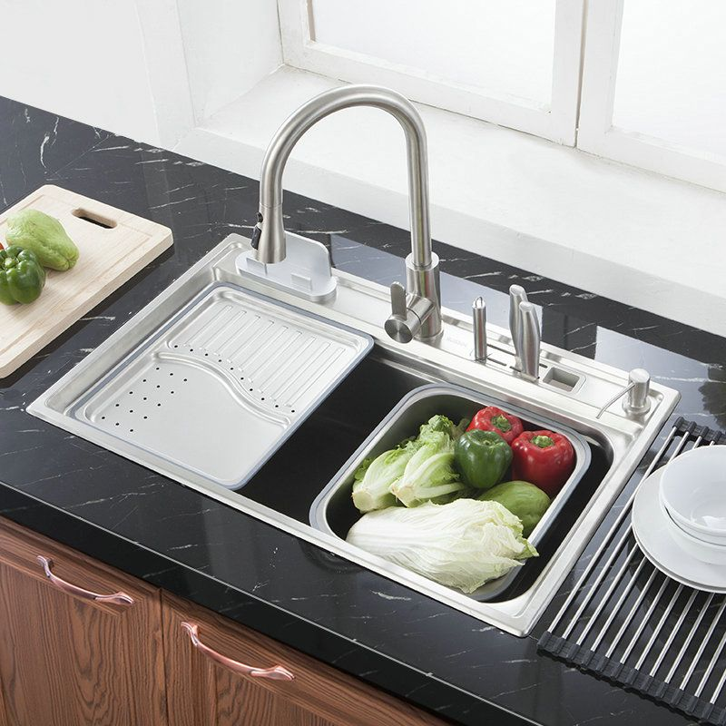 Large Kitchen Sink Stainless Steel Washing Sink with