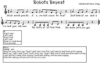 O For Tuna Orff Robots Repeat Song Music Teaching Resources
