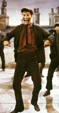 Dick Van Dyke as Bert from 'Mary Poppins' (1964) Costume Designer: Tony Walton