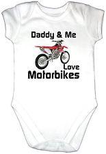 Daddy Me Love Motorbike S Baby Grow Crf 450 Motor Cycle Dirt Trail