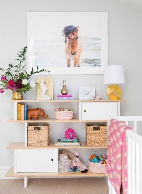 20 kid room shelves with styling you ll want to copy. Black Bedroom Furniture Sets. Home Design Ideas