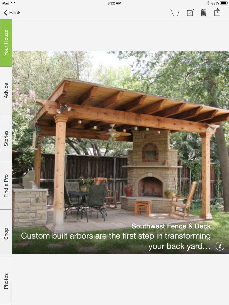 For Possible Outdoor Kitchen Another Single Slanted Roof Backyard Pergola Backyard Pergola