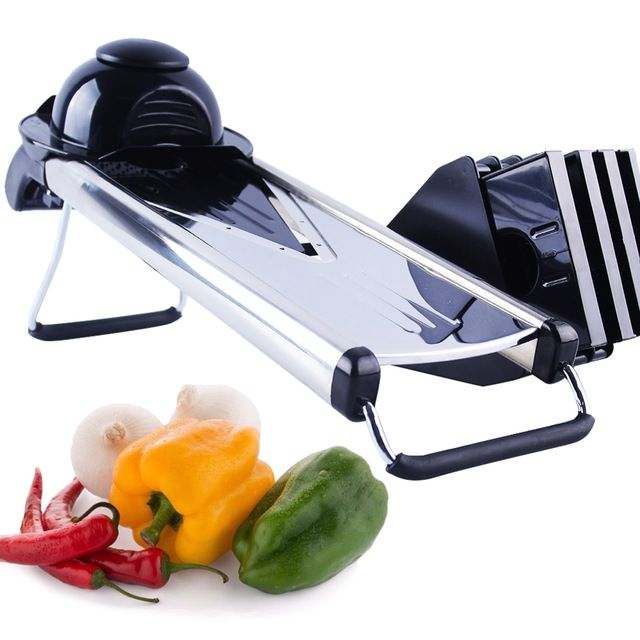 Professional Mandoline Slicer 5 Stainless Steel Blade Manual Prepossessing Kitchen Mandoline Inspiration