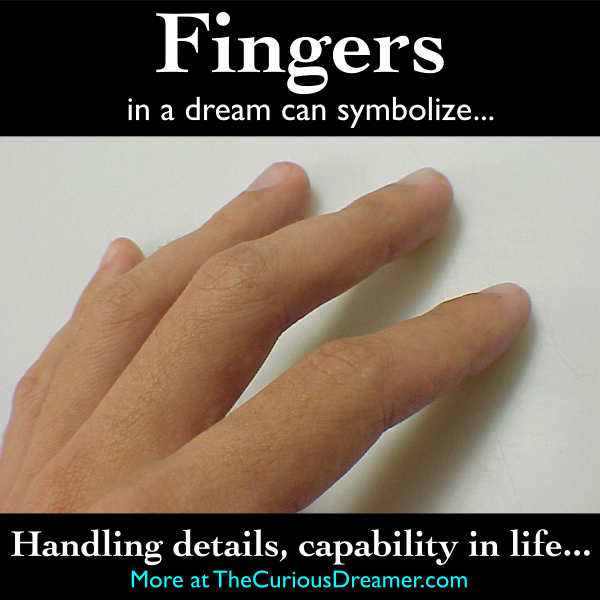 A Finger As A Dream Symbol Can Mean More At Thecuriousdreamer Dreammeaning Dreamsymbol