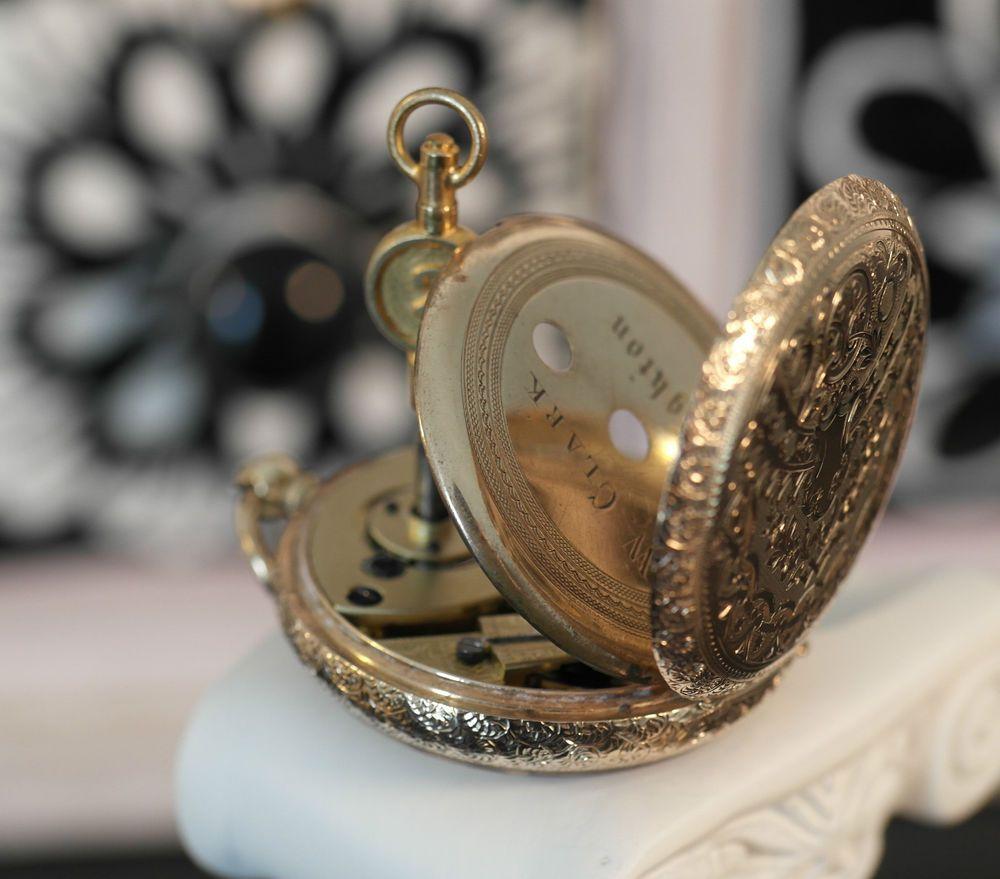 Antique 14 carat 14k Gold Swiss Cuivre Lady's Pocket Watch