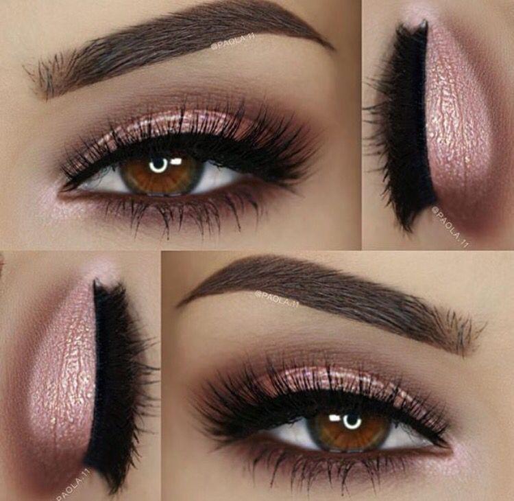 Pink Brown Smokey Eye Makeup Pink Makeup Makeup