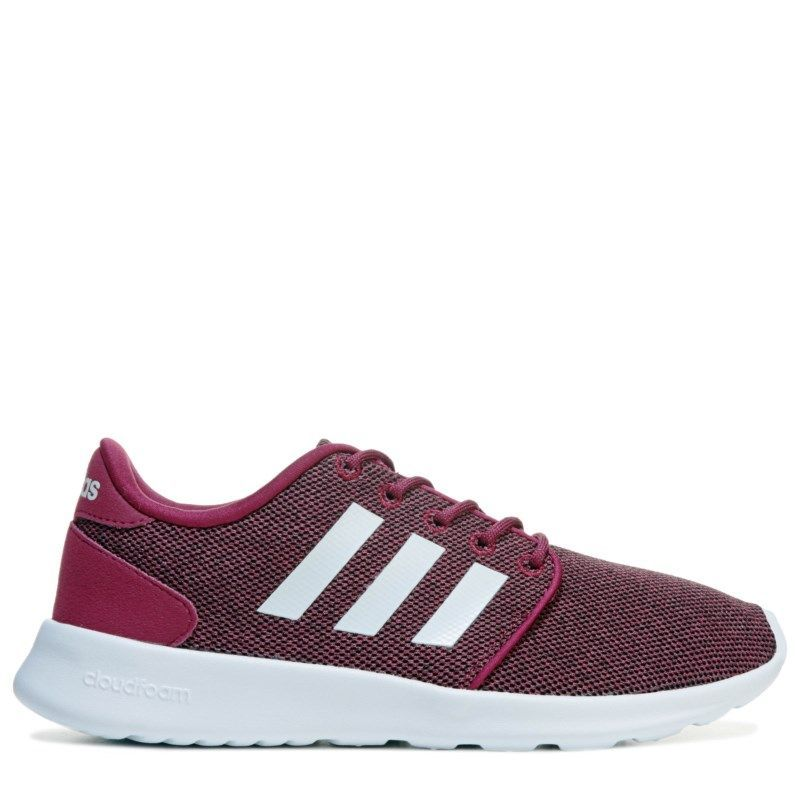 pretty nice 89166 55939 Adidas Women s Neo Cloudfoam QT Racer Sneakers (Burgundy White) http