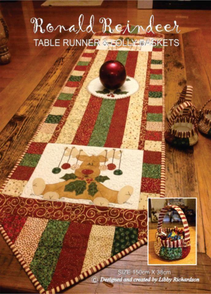 Calico Crossroads Table Runner Pattern Christmas Patchwork Christmas Runner