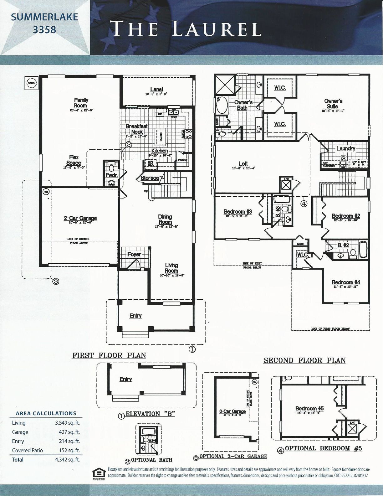 summerlake dr horton homes laurel floor plan in winter garden fl - D R Horton Homes Floor Plans 3 Bedroom