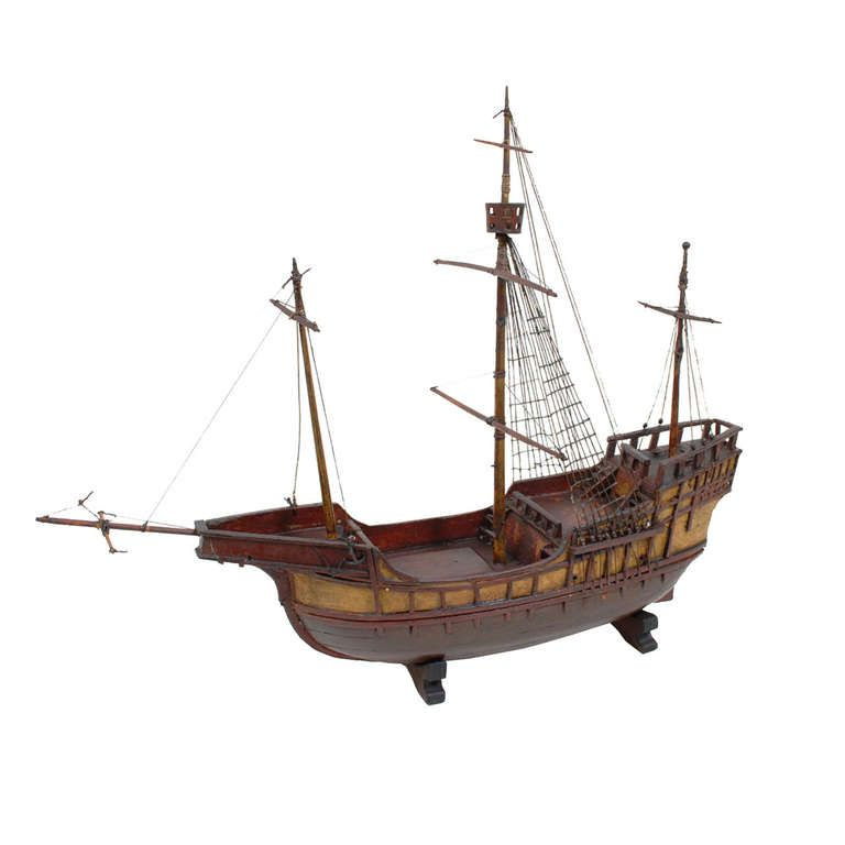 Model of Cargo-Carrack Probably from Genoa, End of the 19th Century