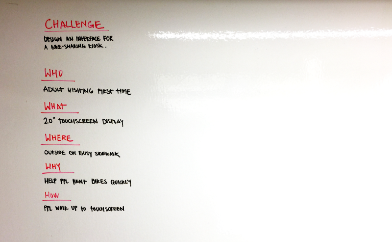 Nailing The Whiteboard Design Challenge Prototypr Design Challenges Challenges White Board