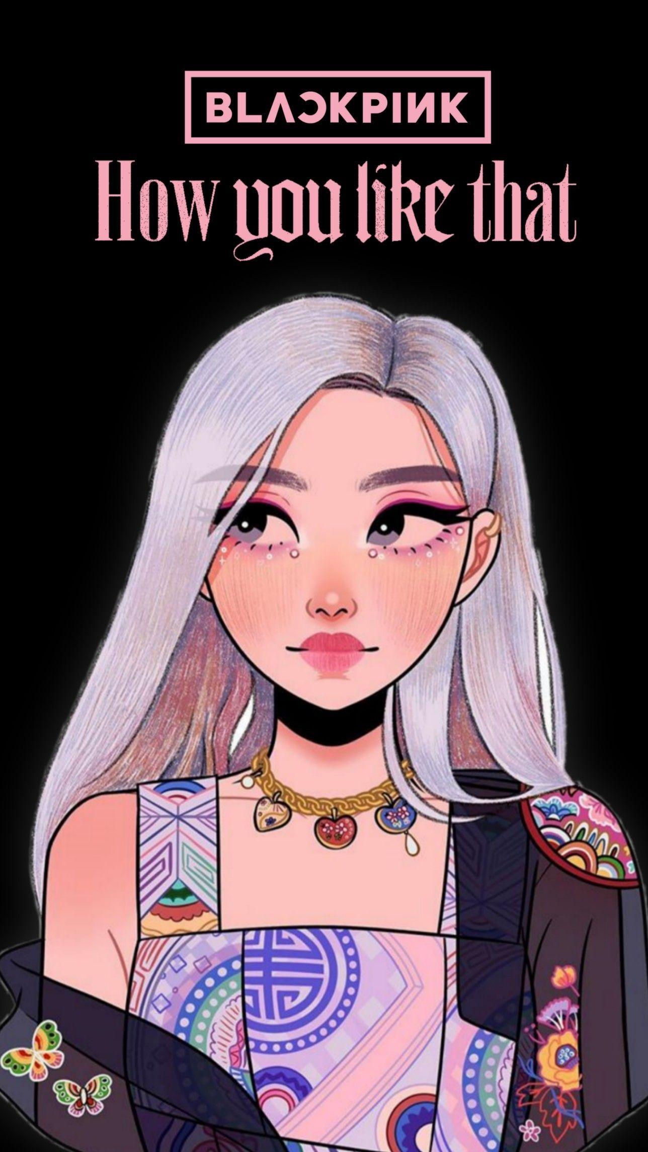 Blackpink Rose In 2020 Blackpink Rose Digital Art Girl Rose Art