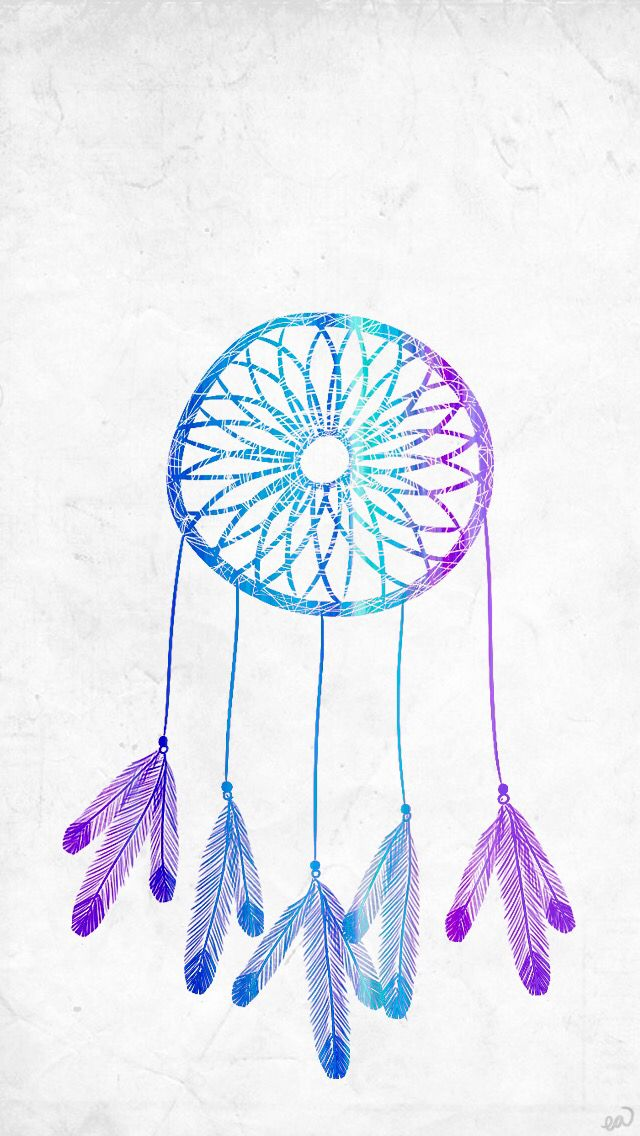 #ombre #blue #dreamcatcher #dream #catcher #tumblr #iphone ...
