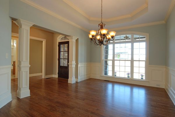 Dining Room with Chair Rail, Shadow Boxes, and Columns to match. WWW ...