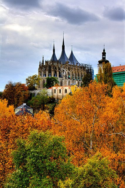 St. Barbara's Church in Kutná Hora, Czech Republic. A UNESCO world heritage site.