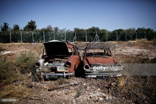 A picture taken on May 25, 2016 shows abandoned cars parked at... #kalathasakrotiri: A picture taken on May 25, 2016… #kalathasakrotiri