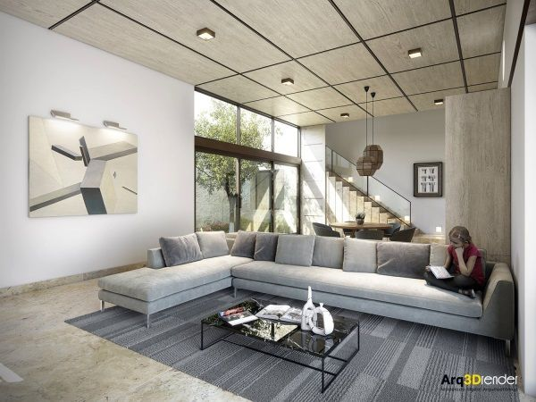 25 Modern Living Rooms With Cool And Clean Lines Moderne