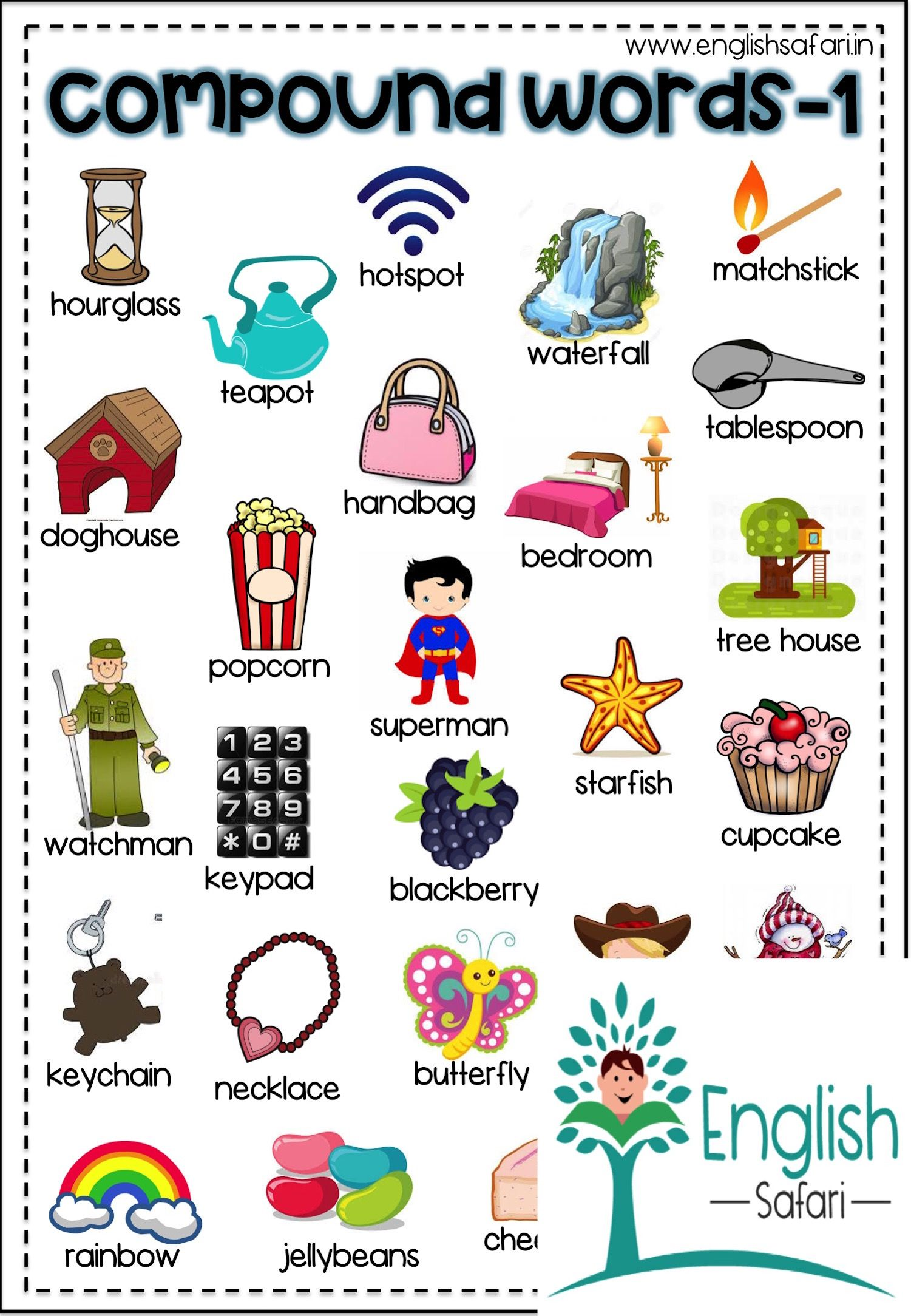 Compound Word Worksheets Free Englishsafari In