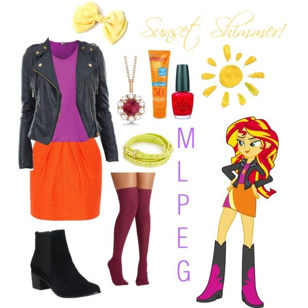 MLP: EG Sunset Shimmer by cutemuffin543 on Polyvore featuring polyvore  fashion style Tamara Mellon The