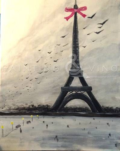 "In light of the recent attack on Paris, let us paint this ""Paris in Winter"" and remember a more peaceful time. Click the photo for  more info. #peaceforparis"