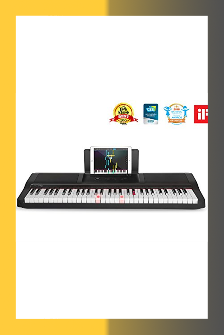 c5044fd7ea9 The ONE Smart Piano Keyboard with Lighted Keys, Electric Piano 61 keys,  Home Digital Music Keyboard, Teaching Portable Keyboard Piano, Black