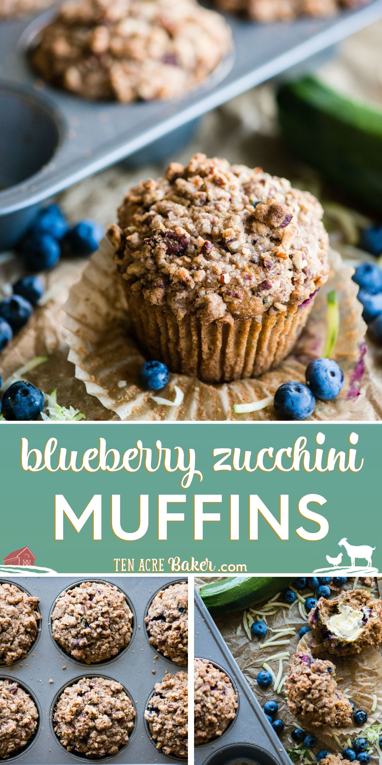Zucchini Blueberry Muffins With Stresel Topping Ten Acre Baker Recipe In 2020 Blue Berry Muffins Blueberry Zucchini Muffins Baking Recipes