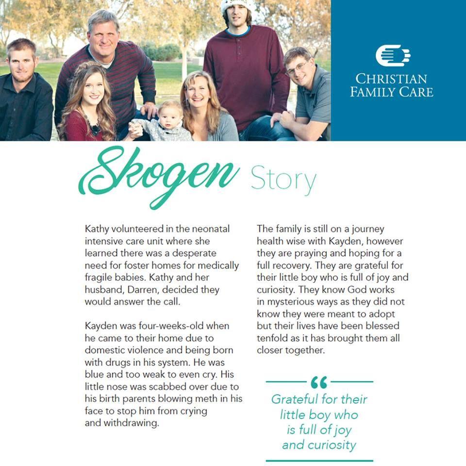 Read the Skogen's adoption story. cfc foreverup