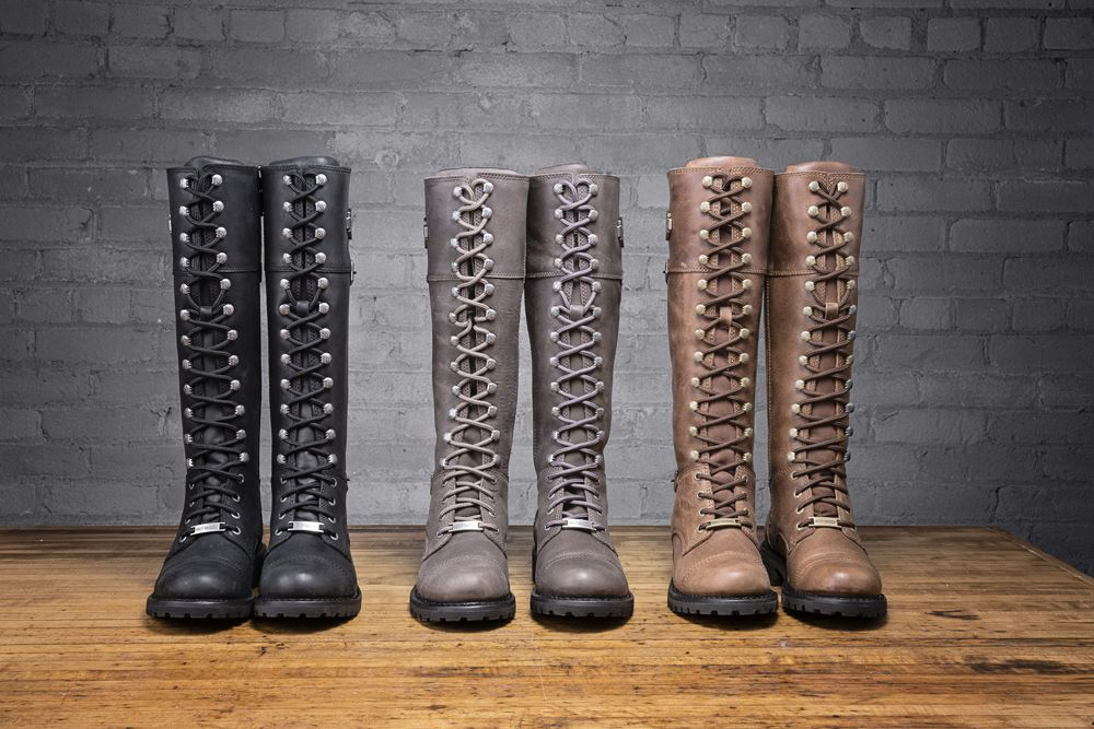 5e52103ae16e Lace up fall style with the moot-inspired Beechwood boots from  Harley-Davidson Footwear.