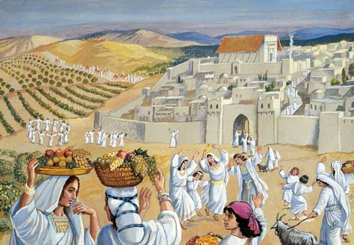 Bildergebnis für young women in white robes dancing in israel on Tu B'av images