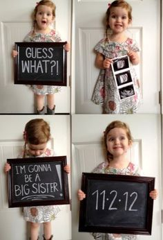 24 Adorable Sibling Pregnancy Announcements   my little family ides