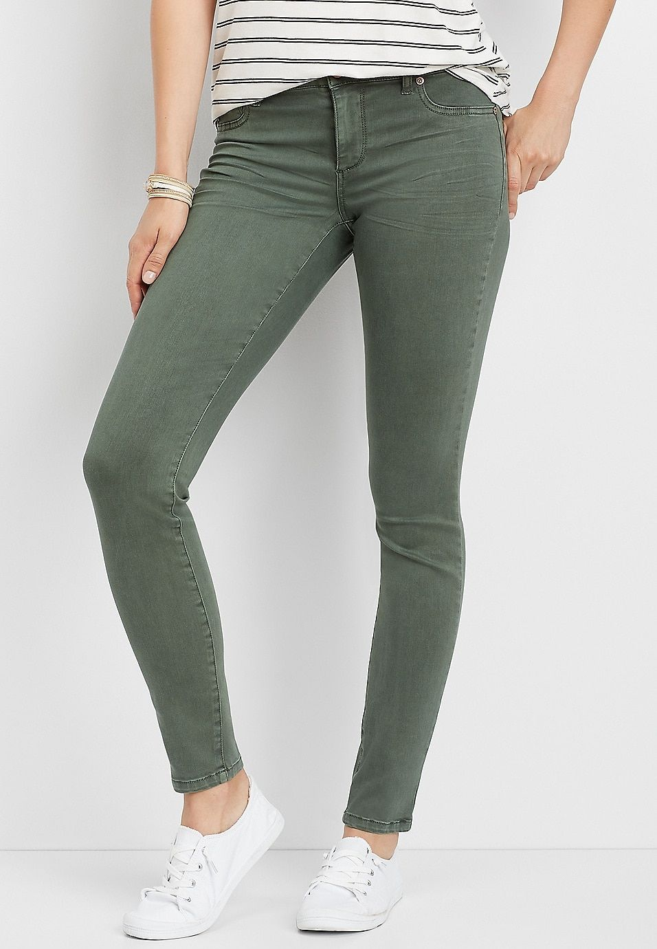 Olive Color Jegging Made With Repreve In 2020 Olive Pants Outfit Colored Jeans Outfits Olive Pants