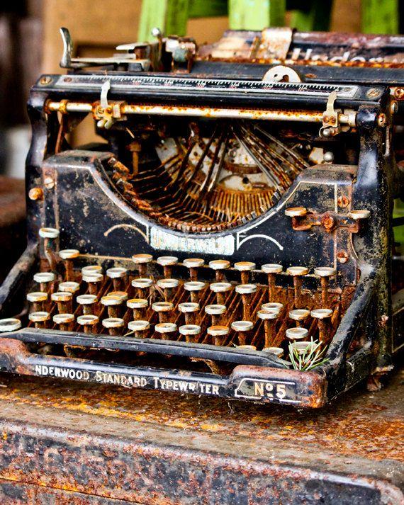 8x10 Vintage Rusty Typewriter Photo Still Life Photography Typewriter Still Life Photography Object Photography