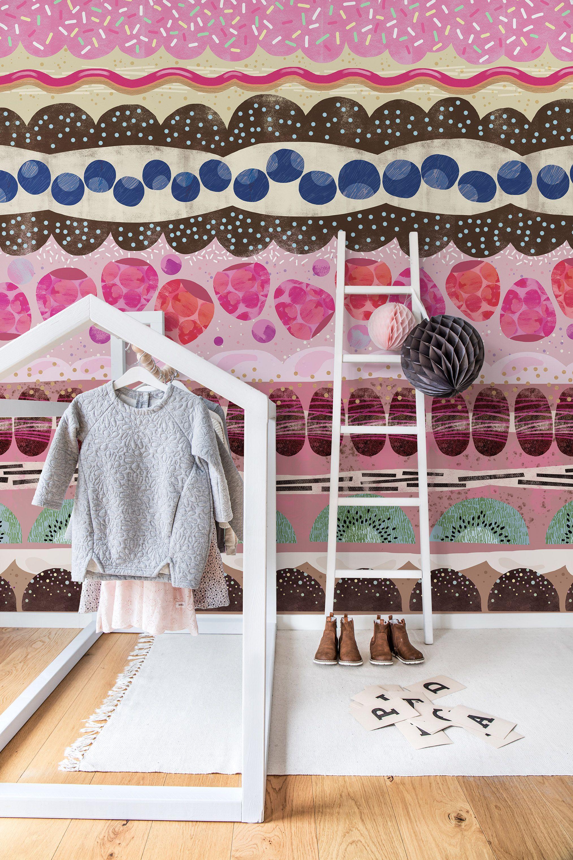 Kinderzimmer wandfarbe sugar stripes  tapeten fürus kinderzimmer  pinterest  stripes
