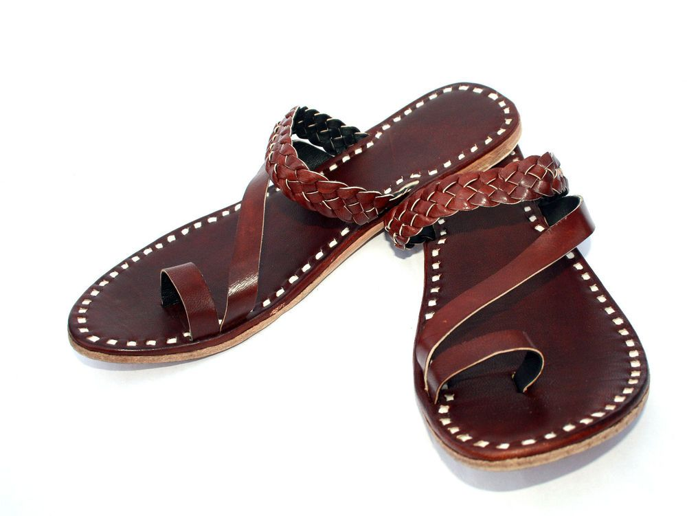 742953ac98005 brown womens leather slippers womens sandals shoes handmade slippers ...