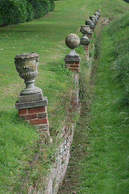 Row of garden ornaments...