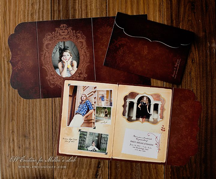 Preppy Findings Senior (Graduation)Announcements - Serendipity 5x7 Side Folded Luxe Card - photography showcased by Amanda K Photography - http://store.millerslab.com/collections/ew-couture/products/mt50-1069
