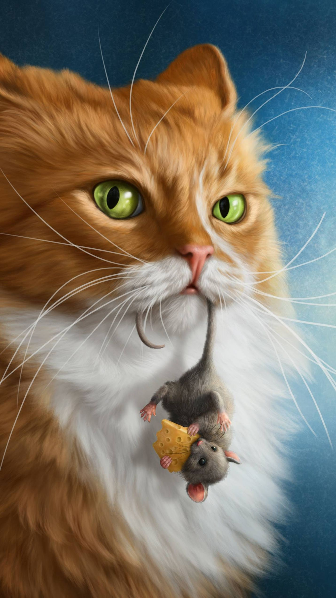 Awesome Cat With Mouse Wallpaper Download Hd In Link Cats Illustration Cat Art Cute Animal Drawings