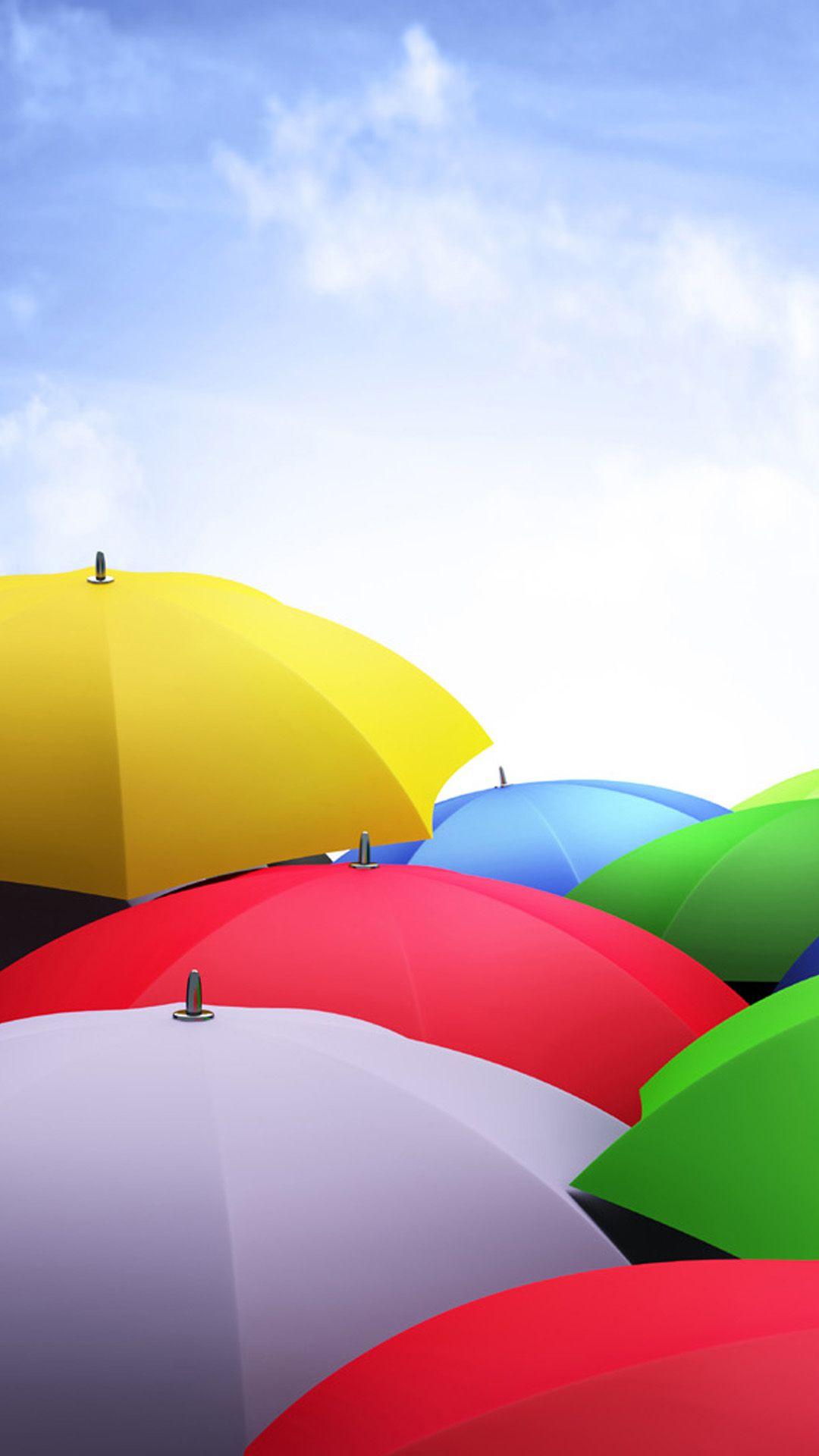 Colorful Nexus5stockcolorfulumbrellasandroidwallpaper Wallpapers