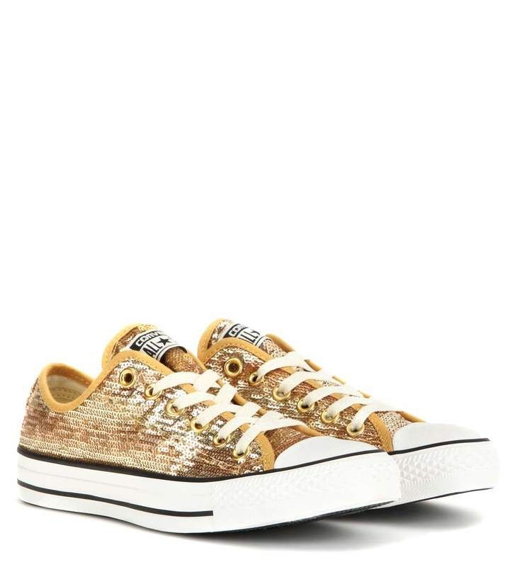 Discount Converse Shoes Chuck Taylor All Star Sequin Gold