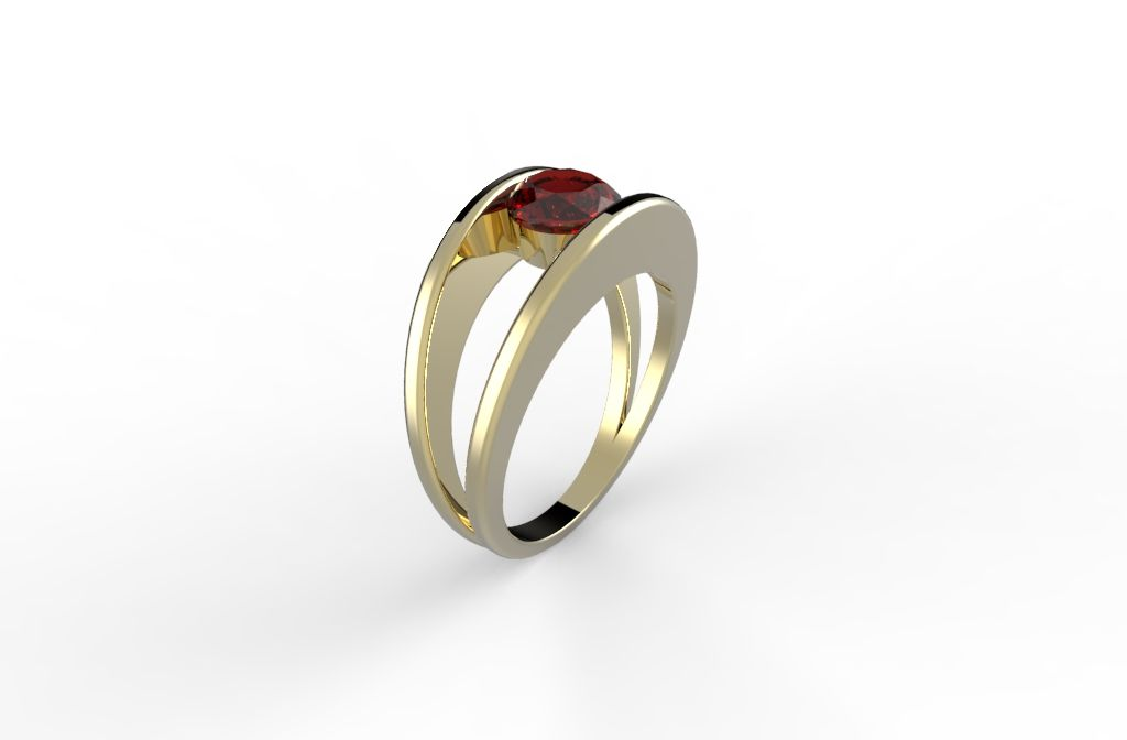 Modern Engagement ring - Lior's Fusion