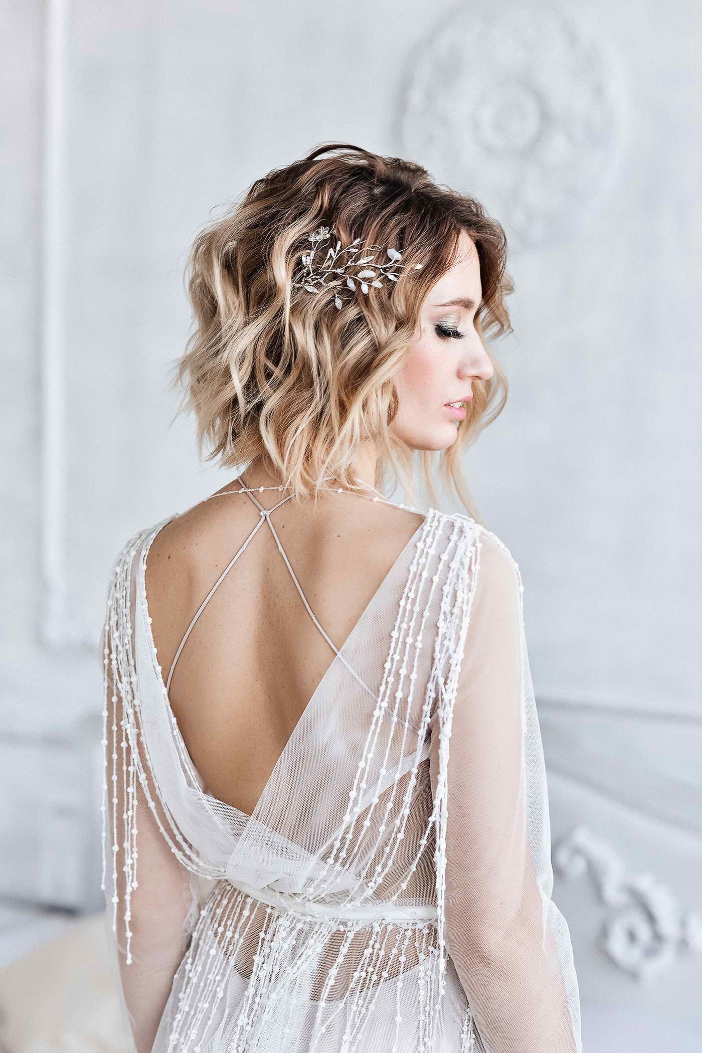 Bridal Hair Sprig Jewelry Silver Sprig Wedding Romantic Jewelry Wedding Hair Pin Wedding Hair C Wedding Hair Clips Short Wedding Hair Wedding Hair Pins [ 2100 x 1400 Pixel ]